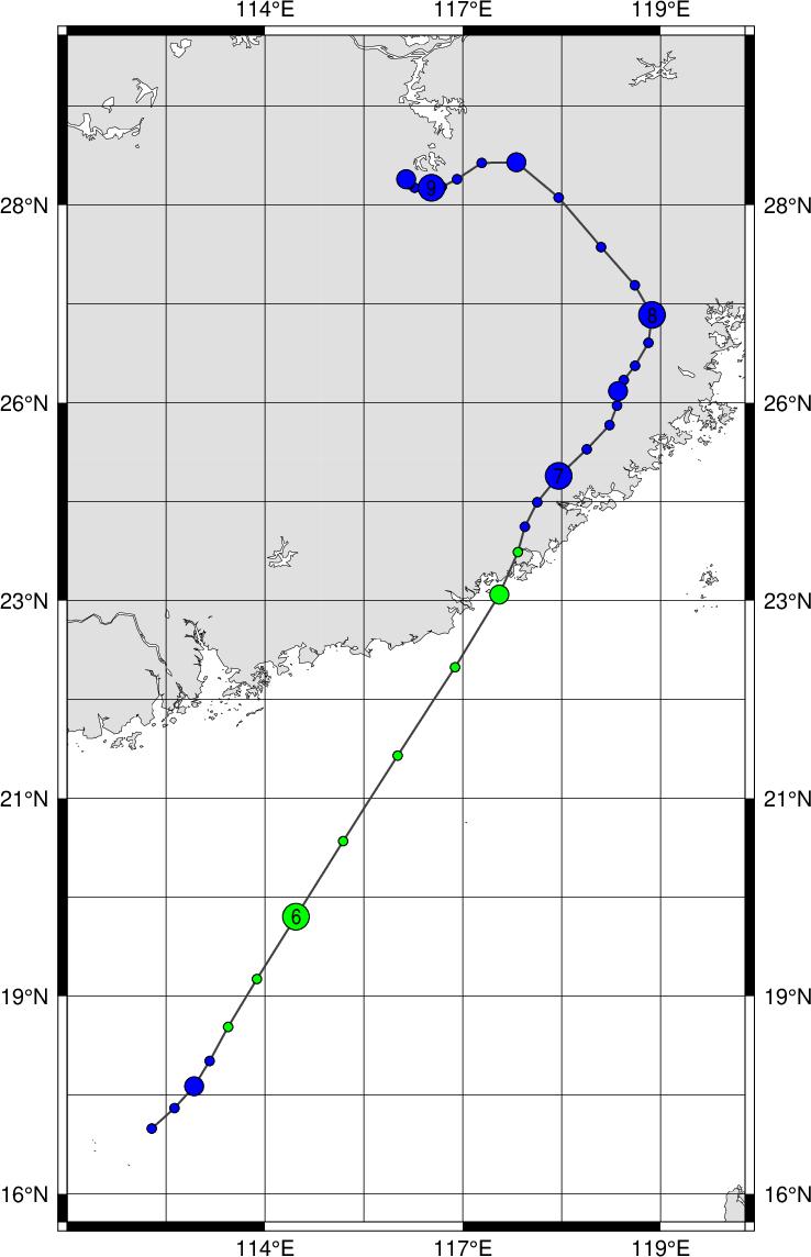 デジタル台風:台風199611号 (LI...