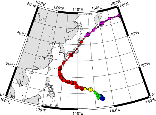 Digital Typhoon: Typhoon 197920 (TIP) - General Information ...