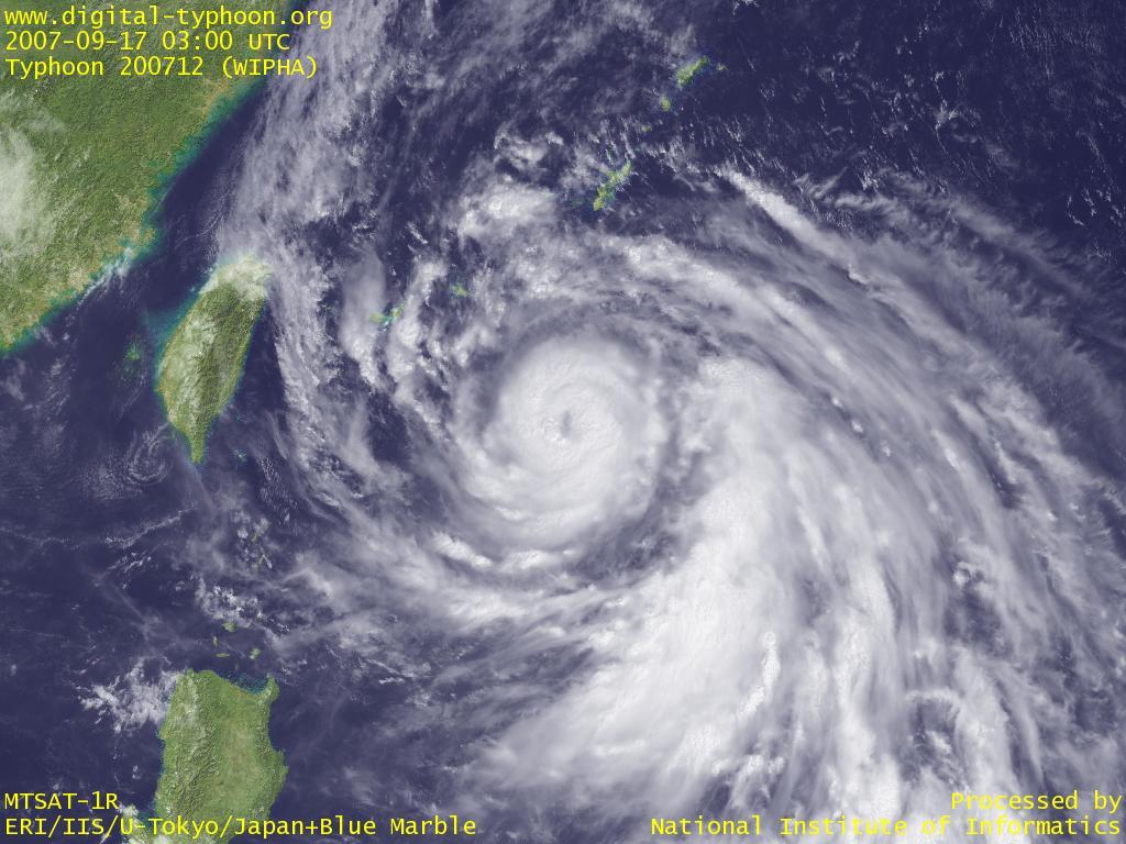 デジタル台風:2007年台風12号(...
