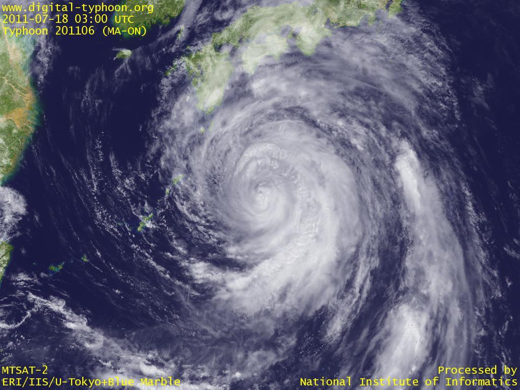 デジタル台風:2011年台風6号(...