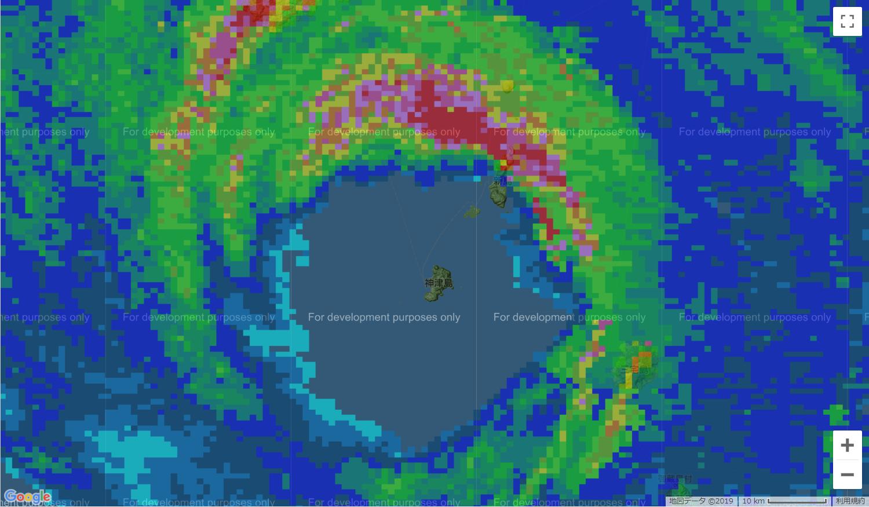 デジタル台風:2019年台風15号(ファクサイ|FAXAI)