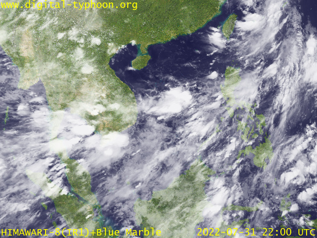 Latest Satellite Image Around Japan