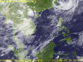 Digital Typhoon Meteorological Satellite Himawari Imagery And - Asia satellite map