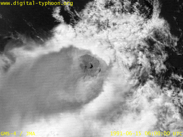 Visible image of Himawari-4 just after the eruption of Mt. Pinatubo