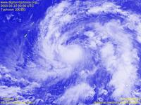 Typhoon Wallpaper Image : Typhoon 200303 (CHAN-HOM) : The last observation by GMS-5. May 22, 2003, 0000 UTC : 1024x768 (VIS)