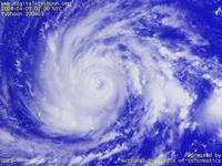 Typhoon Wallpaper Image : Typhoon 200401 (SUDAL) : Typhoon 200401 with the eye on 0200 UTC