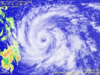 Typhoon Wallpaper Image : Typhoon 200402 (NIDA) : Typhoon NIDA with spiral shape off the coast of the Philippines on 0400 UTC