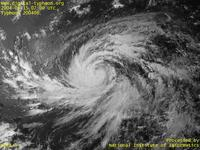 Typhoon Wallpaper Image : Typhoon 200406 (DIANMU) : Giant spiral shape of Typhoon DIANMU (0700 UTC)