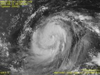 Typhoon Wallpaper Image : Typhoon 200413 (RANANIM) : Typhoon RANANIM whose eye is still vague (0000 UTC)