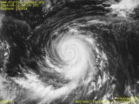 Typhoon Wallpaper Image : Typhoon 200416 (CHABA) : The eye of Typhoon CHABA is not clear as before (0300 UTC)