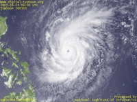 Typhoon Wallpaper Image : Typhoon 200503 (SONCA) : Typhoon SONCA keeping its intensification process (0600 UTC)