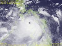 Typhoon Wallpaper Image : Typhoon 200806 (FENGSHEN) : Typhoon 200806 intensified over Visayan Sea in the middle of Philippines (03 UTC)