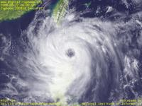 Typhoon Wallpaper Image : Typhoon 200814 (HAGUPIT) : Typhoon 200814 with a large eye at Luzon Strait (06 UTC)