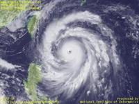 Typhoon Wallpaper Image : Typhoon 200815 (JANGMI) : Typhoon 200815 showing extremely well-balanced shape (03 UTC)