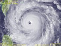 Typhoon Wallpaper Image : Typhoon 200815 (JANGMI) : Typhoon 200815 having very thick clouds at the center with the clearly visible eye (06 UTC)