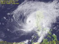 Typhoon Wallpaper Image : Typhoon 200902 (CHAN-HOM) : Typhoon 200902 with thick clouds near the center (06 UTC)