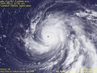 Typhoon Wallpaper Image : Typhoon 200914 (CHOI-WAN) : Typhoon CHOI-WAN with a clearly visible eye (03 UTC)