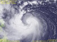 Typhoon Wallpaper Image : Typhoon 200917 (PARMA) : Typhoon PARMA with a very small eye and well-developed spiral bands (03 UTC)