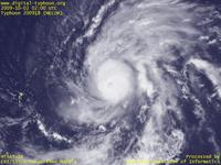 Typhoon Wallpaper Image : Typhoon 200918 (MELOR) : Typhoon MELOR approaching to Northern Mariana Islands (02 UTC)
