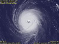 Typhoon Wallpaper Image : Typhoon 200918 (MELOR) : Typhoon MELOR with a rounded eye and a rounded cloud shape (04 UTC)