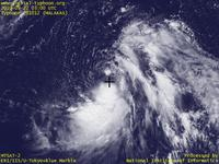 Typhoon Wallpaper Image : Typhoon 201012 (MALAKAS) : Typhoon MALAKAS imbalanced for clouds in the south (03 UTC)