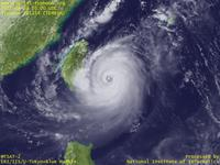 Typhoon Wallpaper Image : Typhoon 201214 (TEMBIN) : Typhoon TEMBIN approaching Taiwan after re-intensification (03 UTC)