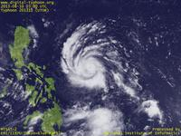Typhoon Wallpaper Image : Typhoon 201311 (UTOR) : Typhoon UTOR starting intensification just after the formation (03 UTC)