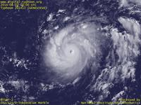 Typhoon Wallpaper Image : Typhoon 201413 (GENEVIEVE) : Typhoon / Hurricane GENEVIEVE just before changing to a typhoon (03 UTC)